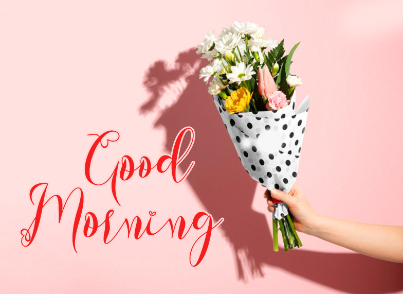 Good Morning Wish with Flowers Bouquet