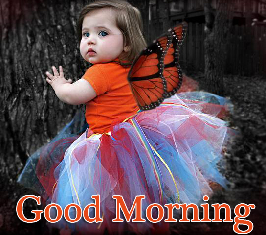 Good Morning with Cute Kid Pic
