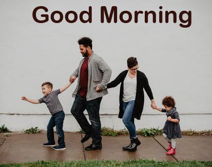 Good Morning with Sweet Family Wallpaper Full HD