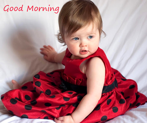 Good Morning with Sweet Kid Pic