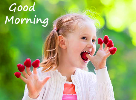 Good Morning with Sweet Kid Picture