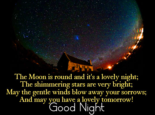 Good Night Blessing Message Photo
