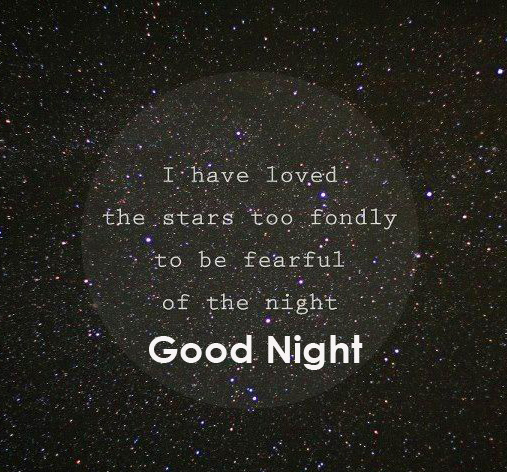 Good Night English Quotes Picture