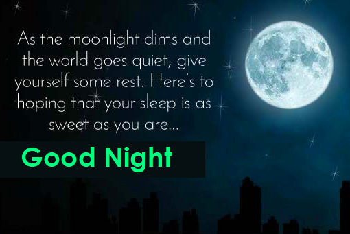 Good Night Greeting Message with Full Moon