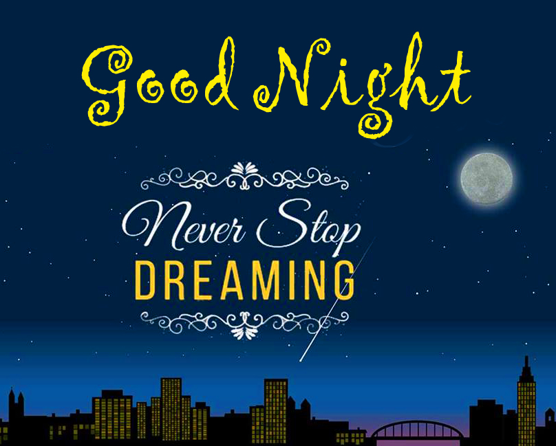 Good Night Greeting with Dream Quotes