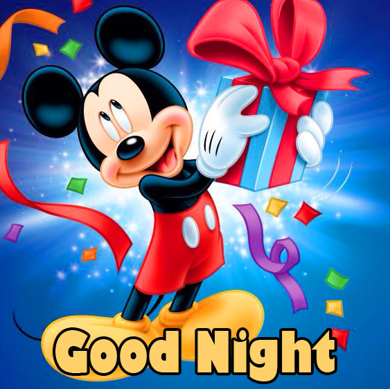 Good Night Happy Mickey Mouse Picture
