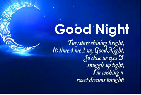 Good Night Quotes with Decorative Message Pic