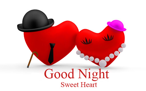 Good Night Sweet Heart Mr and Mrs Heart Picture