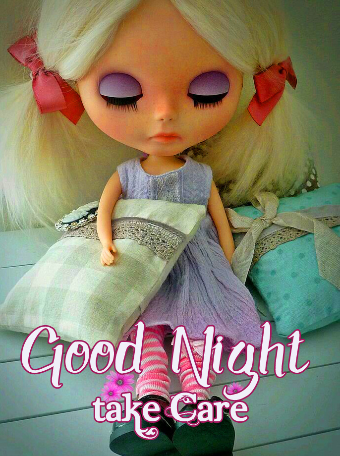 Good Night Take Care with Sleeping Doll Pic