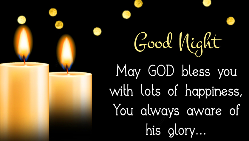 Good Night Wish with Blessing Quotes HD