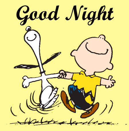 Good Night Wish with Snoopy Pic