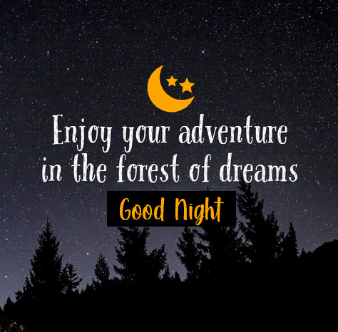 Good Night with English Message