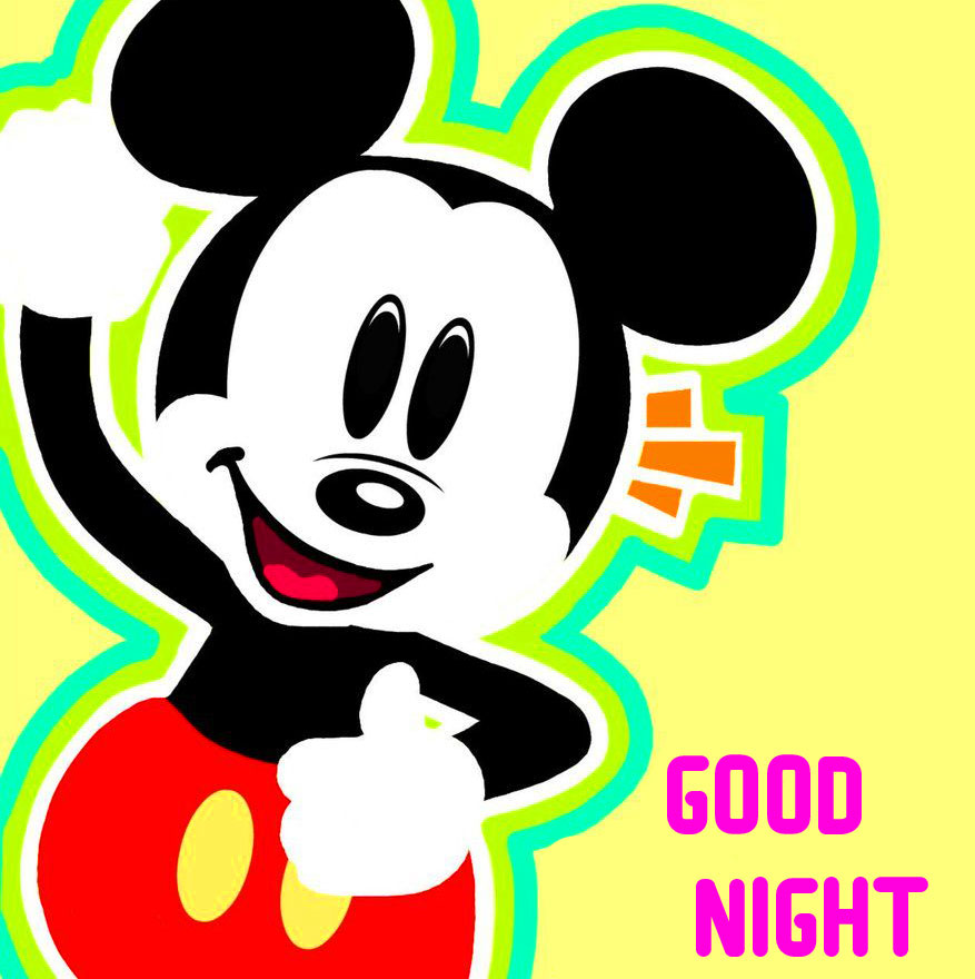 Good Night with Happy Mickey Mouse Pic