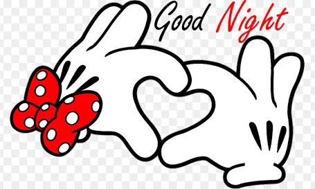 Good Night with Love Mickey Mouse Hands