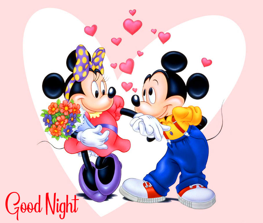 Good Night with Mickey and Minnie Mouse Propose Pic