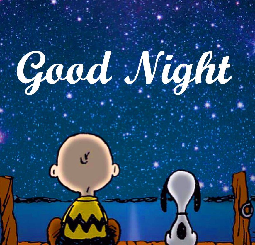 Good Night with Snoopy in Night