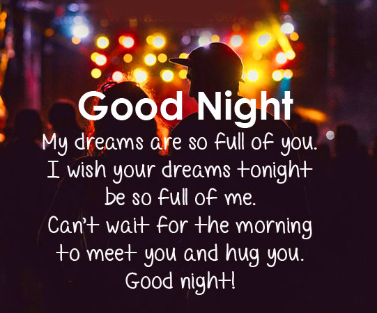 Good Night with Sweet Message Picture