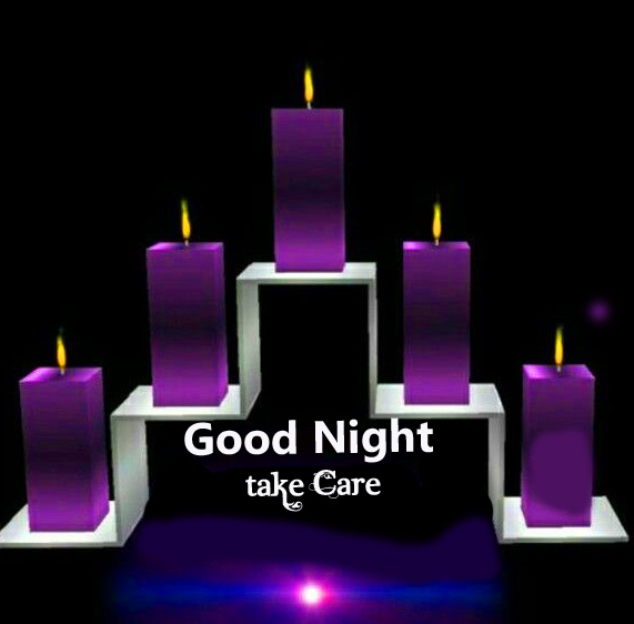 HD Candles Standing with Good Night Take Care Message