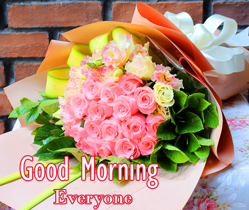 HD Flowers Bouquet Good Morning Everyone Photo
