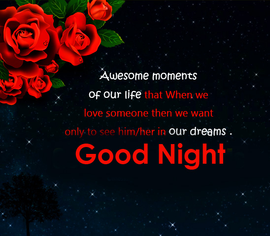 HD Good Night Wish and Message Pic