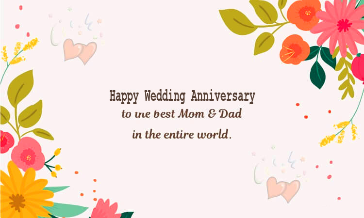 HD Happy Wedding Anniversary Wish for Mom and Dad