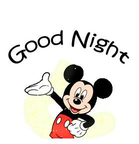 HD Mickey Mouse Good Night Image and Pic