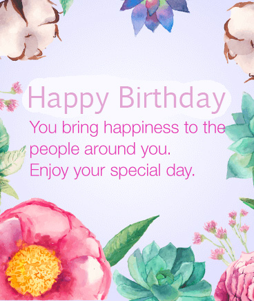 Happiness Quotes with Happy Birthday Wish