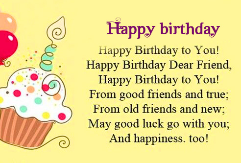 Happy Birthday Greetings Image for Friend