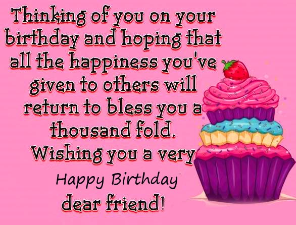 Happy Birthday Wish and Greetings for Friend