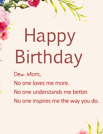 Happy Birthday Wish and Message for Mom
