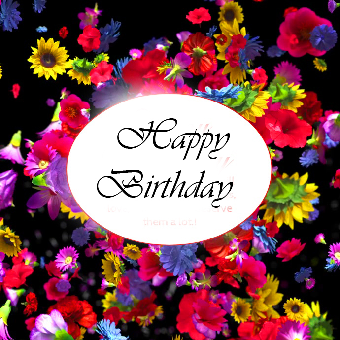 Happy Birthday Wishing and Greeting Floral Image