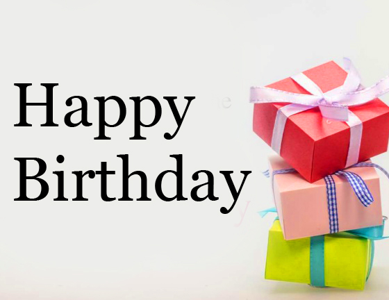 Happy Birthday with Cute Gifts