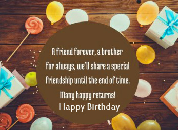 Happy Birthday with Friends Forever Message