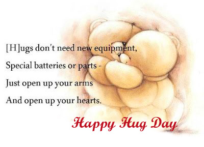 Happy Hug Day with Beautiful Message