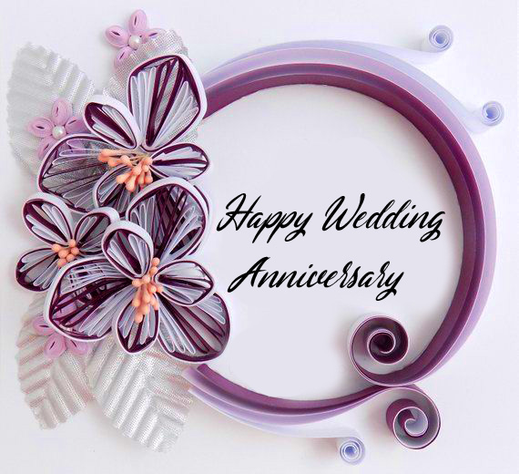 Happy Wedding Anniversary Floral Ring Picture