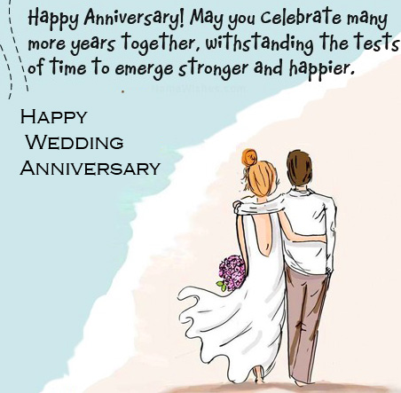 Happy Wedding Anniversary Image for Husband and Wife