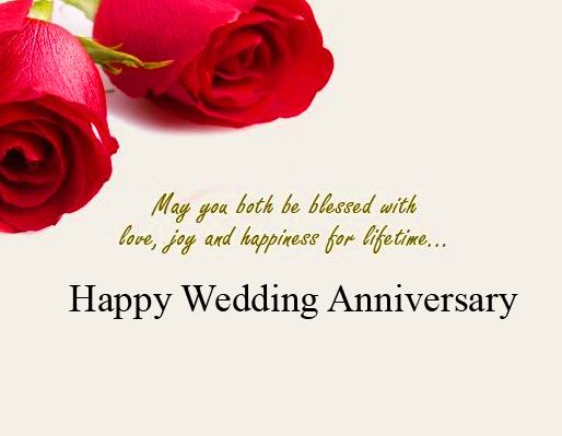 Happy Wedding Anniversary Quotes with Roses