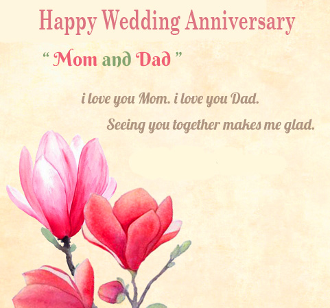 Happy Wedding Anniversary for Mom and Dad