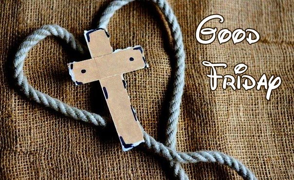 Heart for Cross with Good Friday Message