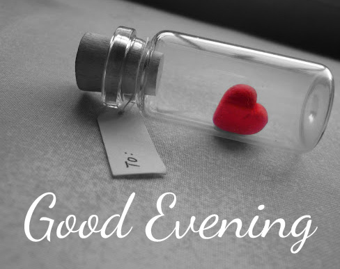 Heart in Bottle with Good Evening Wish