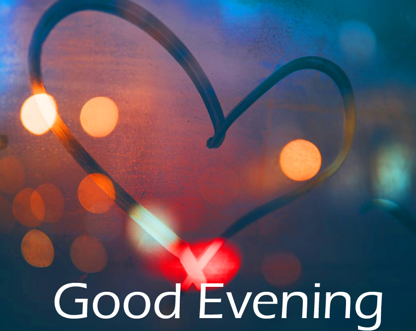 Heart in Night with Good Evening Wish