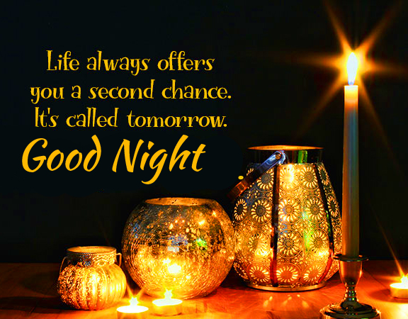 Inspirational Blessing Good Night Quote Wallpaper