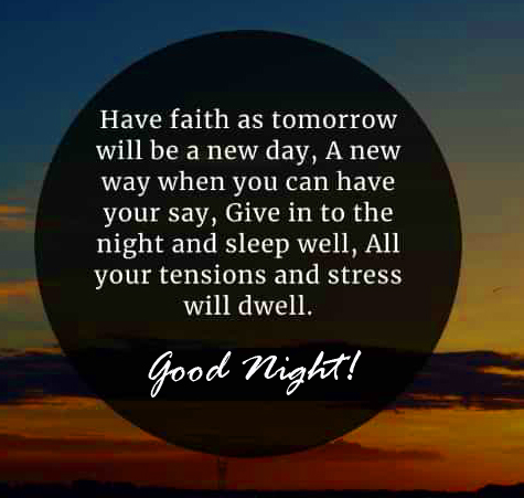 Inspirational Blessing Quotes Good Night Image
