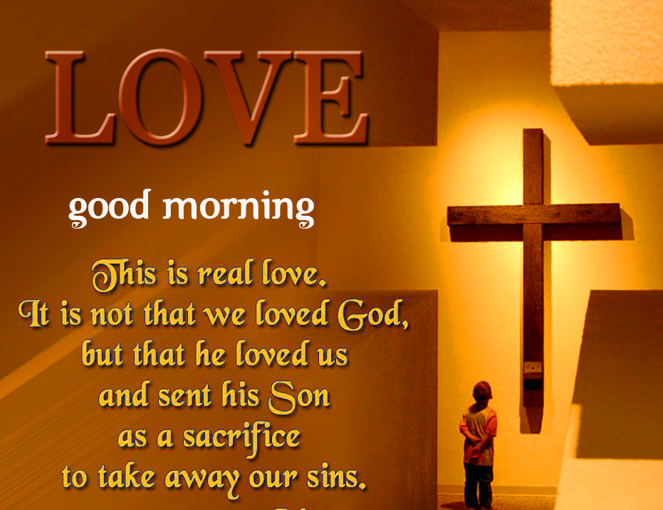 Jesus Love for God Good Morning Quotes Wallpaper