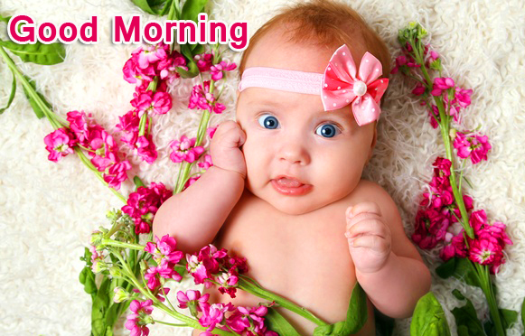 Kid with Good Morning Wish