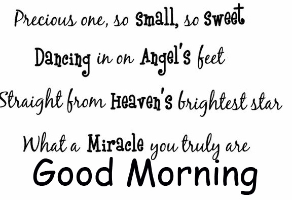 Latest Angel Baby Quote Good Morning Image