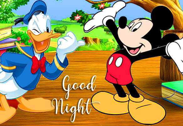 Latest Cheerful Mickey Mouse Good Night Image