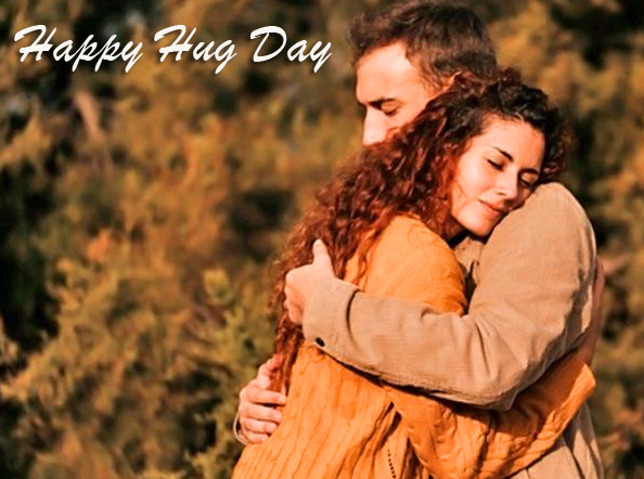 Latest Couple Pic with Happy Hug Day Message