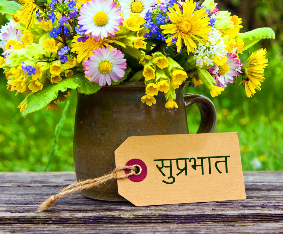 Latest Flowers with Suprabhat Wish Card