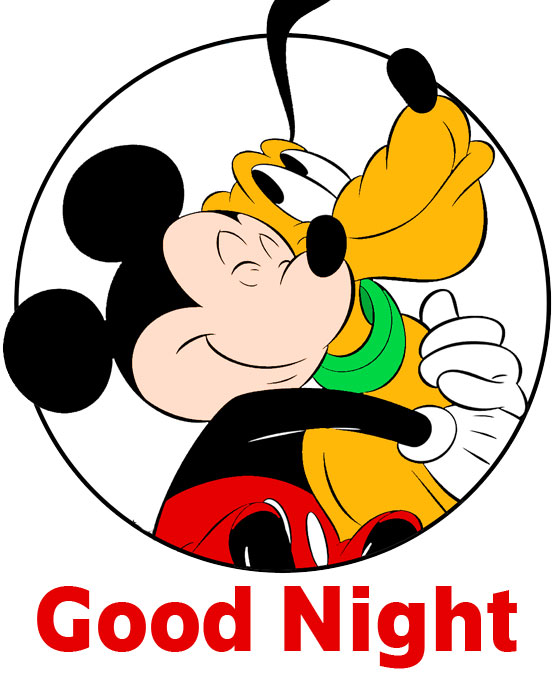 Latest Mickey Mouse Love Good Night Image